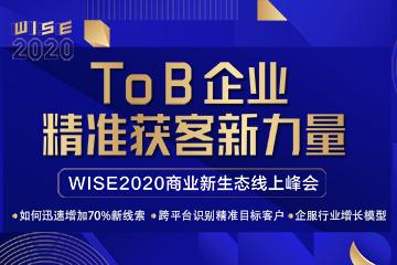 WISE2020 线上峰会精彩回顾 | 获新客、留老客,B2B企业这样做很有效