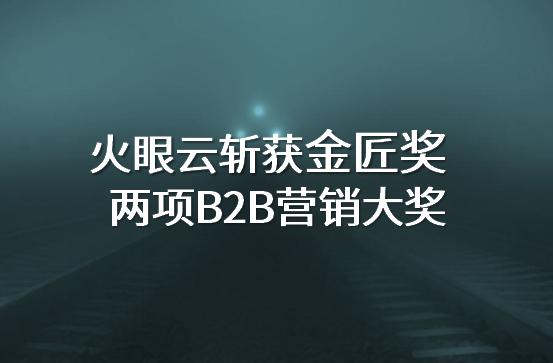 第四届金匠奖揭晓,火眼云斩获两项B2B营销大奖